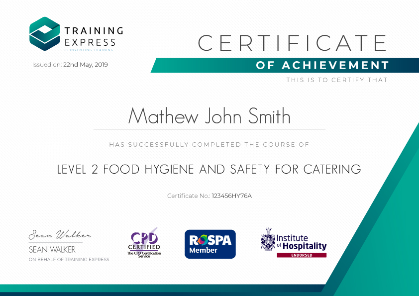 Level 2 Food Hygiene And Safety Course For Catering