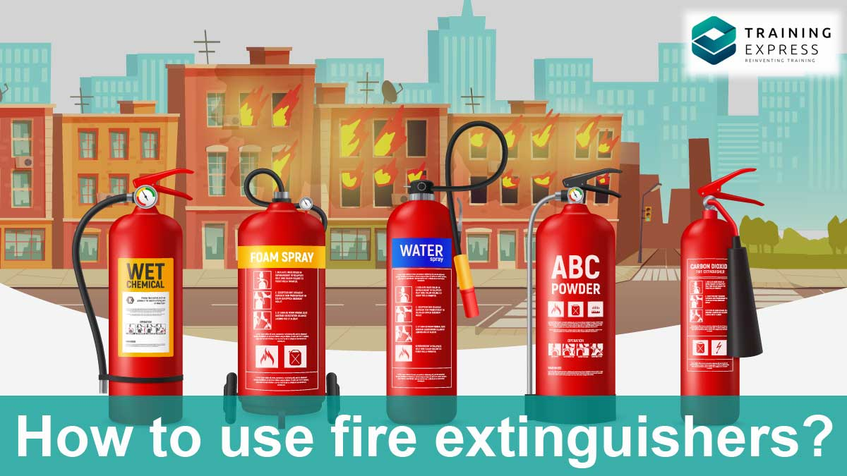 How to use fire extinguishers in an emergency situation