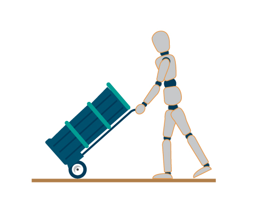 Sustainable Push and Pull Postures Figure 3 Sustainable Push and Pull Postures Figure 1 in Manual Handling Safety Basics